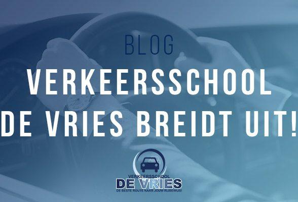 Verkeersschool De Vries breidt uit!